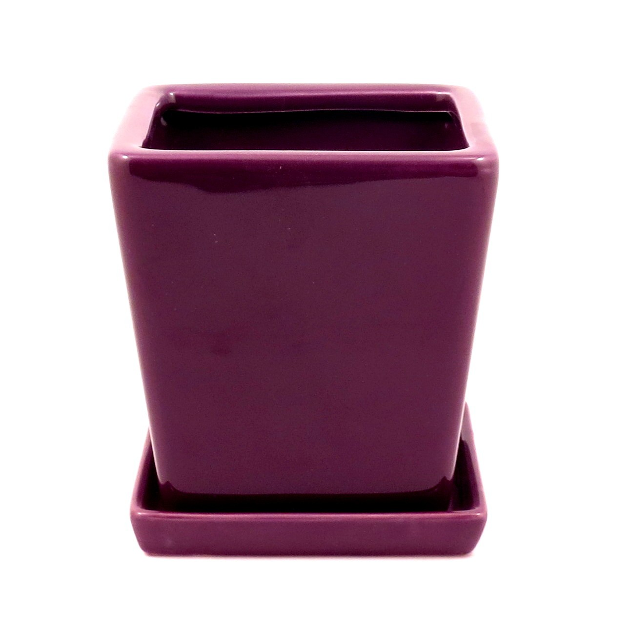 Flower pot with tray(VIOLET)