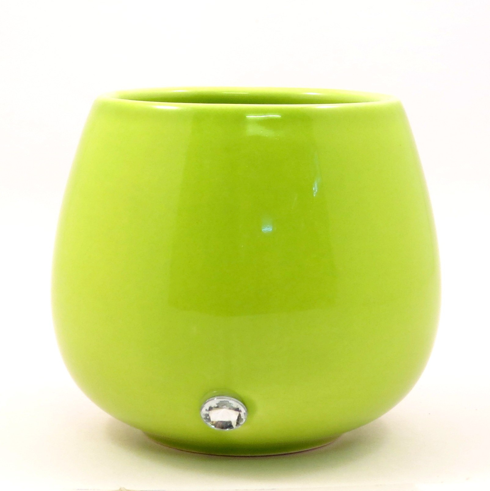 f&g table top ceramic pot(green)