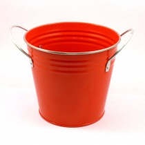 SOLID COLOR FLOWER POT(RED)