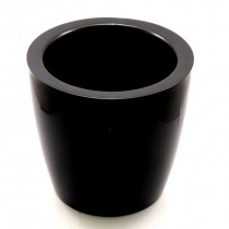 F & G Fibre Pot - Glossy finish,Black