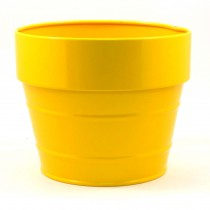 ROUND FLOWER POT(YELLOW)