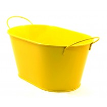 OVAL FLOWER POT(YELLOW)