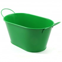 OVAL FLOWER POT(GREEN)