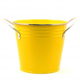 SOLID COLOR FLOWER POT(YELLOW)