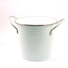 SOLID COLOR FLOWER POT(WHITE)