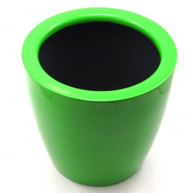 F & G FIBRE POT - GLOSSY FINISH ,GREEN