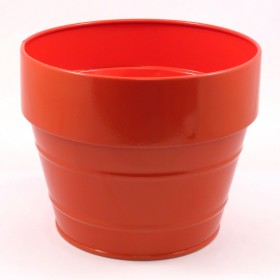 ROUND FLOWER POT(RED)