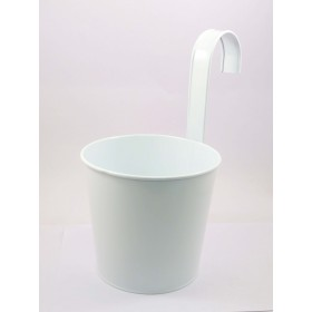 ROUND FLOWER POT WITH HOOK(W)