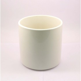 F&G CYLINDRICAL CERAMIC POT(WHITE)