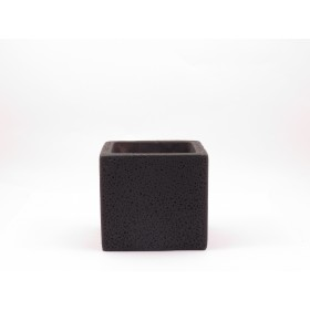 CUBE CEMENT POT(BLACK)