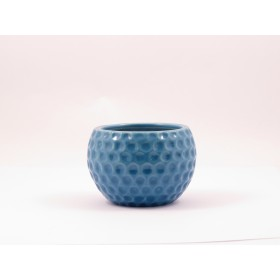 F&G TABLE TOP CERAMIC POT(BLUE)