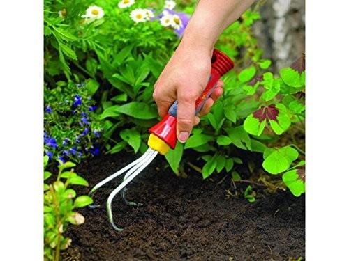 Wolf-Garten Steel Hand Grubber for Home Gardens (Red)