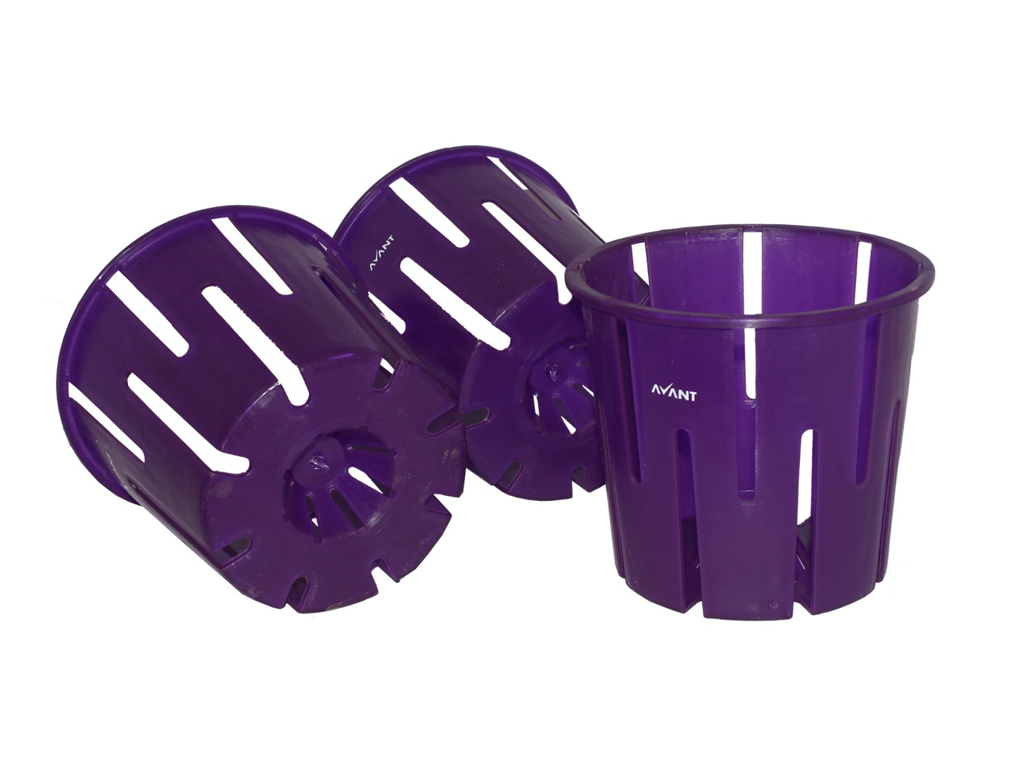 Orchid Pot Violet (Set of 3)