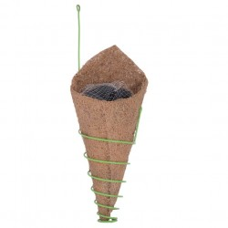 AGRICOM METAL & COIR HANGING ORCHID PLANTER WITH COAL (43 CM X 12 CMX 11 CM)