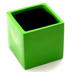 F & G FIBRE POT - GLOSSY FINISH,GREEN