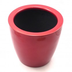 F & G FIBRE POT - GLOSSY FINISH,MAROON
