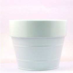 ROUND FLOWER POT(WHITE)