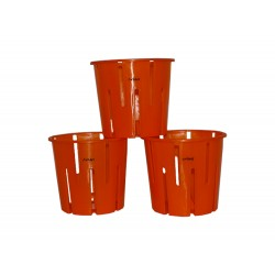 ORCHID POT ORANGE (SET OF 3)