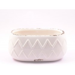 F&G OVAL CERAMIC POT