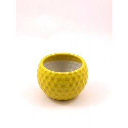 TABLE POT CERAMIC POT(YELLOW)